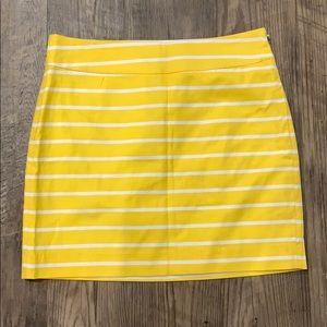 BANANA REPUBLIC yellow striped skirt 4